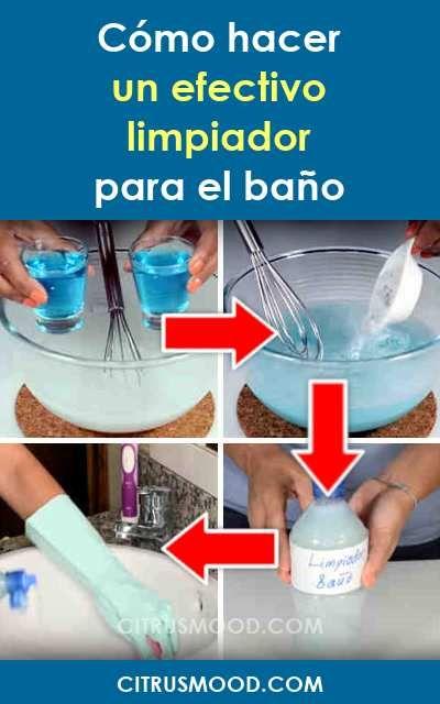 Como Hacer Un Efectivo Limpiador Para El Bano Trucos De Limpieza