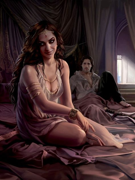 HD Wallpaper and background photos of Arianne Martell and Arys Oakheart- art by Magali Villeneuve. © Fantasy Flight Games for fans of Arianne Martell images.
