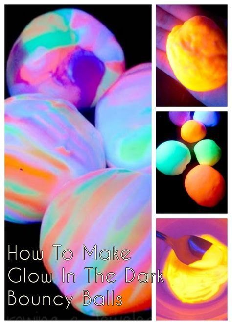 How To Make Glow In The Dark Bouncy Balls Fun Kids Crafts Fun Crafts For Kids Bouncy Balls Glow Crafts