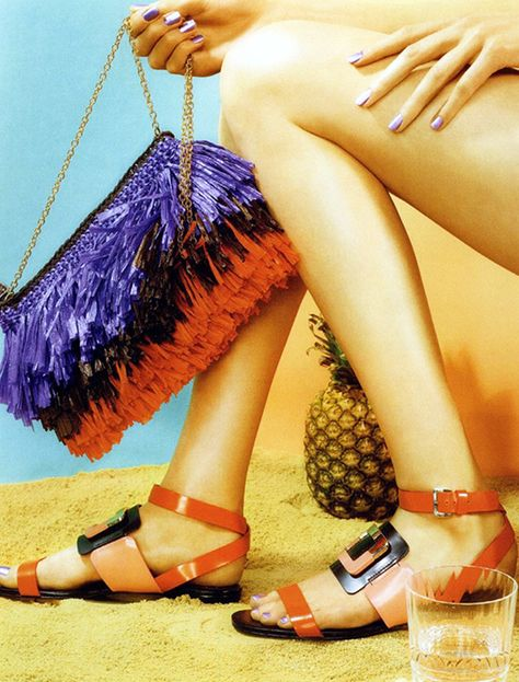 #MMissoni Accessories | Multicolor #fringes #raffia effect bag | Summer 2014 Collection | Madame magazine, Germany
