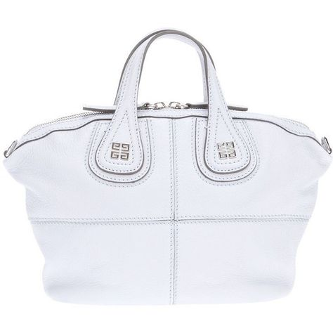 Givenchy Mini Nightingale Tote in White (blue) Lyst Givenchy ❤ liked on  Polyvore featuring 74c09ec45e630