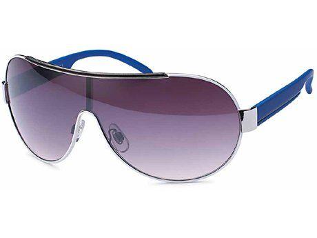 Designer Sonnenbrille Pilotenbrille mit Monoscheibe und smoke Verlaufsglas Damen Herren unisex Sonnenbrillen QKvaFuavu