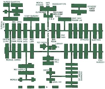 Layout Of Fort Carson Hospital, Fort Carson, Colorado   Yes, I Worked Here