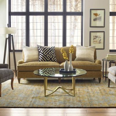 Company C S Jasper Rug Inspired By A Traditional Rug That Was Softened And Faded Over Time By Countless Gold Living Room Furniture Black Living Room Gold Sofa