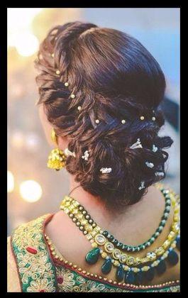 Elegant Long Short Wedding Hairstyles For Cool Brides Bun Hairstyles For Long Hair Easy Hairstyles Indian Bridal Hairstyles