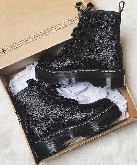 coupon codes store check out Des Boots Dr. Martens + des paillettes noires = coup de cœur ...
