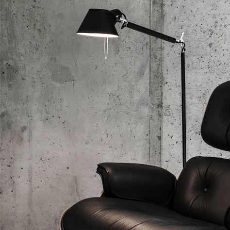 Artemide Tolomeo Floor Black Google Sok Black Floor Lamp Floor Lamp Lamp