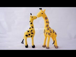 Apresentacao Amigurumi Mini Girafa Em Croche Youtube Knitted Animals Crochet Amigurumi Crochet Patterns Amigurumi