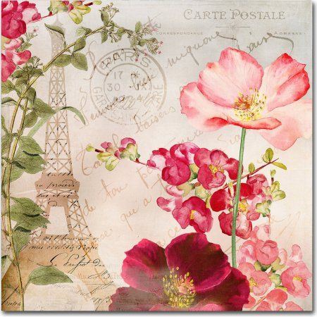 Trademark Fine Art Always Paris I Canvas Art by Color Bakery, Size: 18 x 18, Assorted