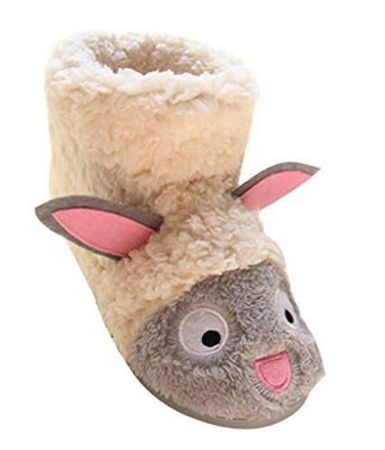 Cattior Mens Animal Cute House Slippers Spa Slippers Open Toe