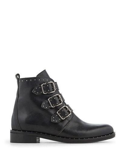 Boots Cuir Veau Dalla En Noir Minelli k8OPXn0w