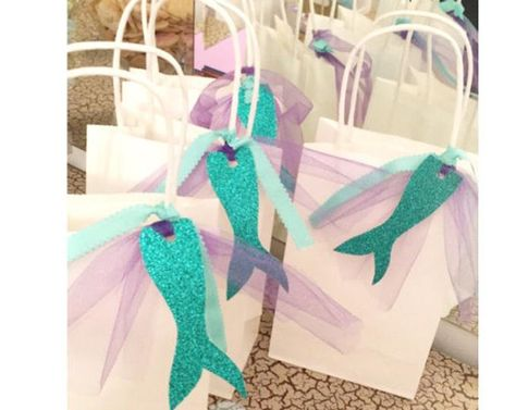 Mermaid Favor Bags. Under the Sea Party Bags. Party Bags. | Etsy