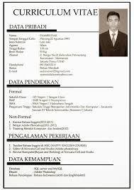 Cv Template Bahasa Indonesia Riwayat Hidup Cv Kreatif Desain