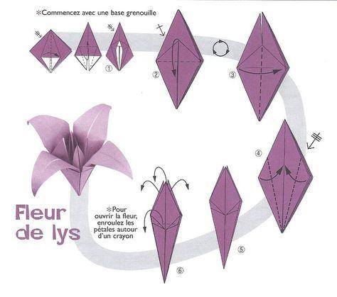 Image Origami Fleur De Lys Flori De Hârtie Origami Origami