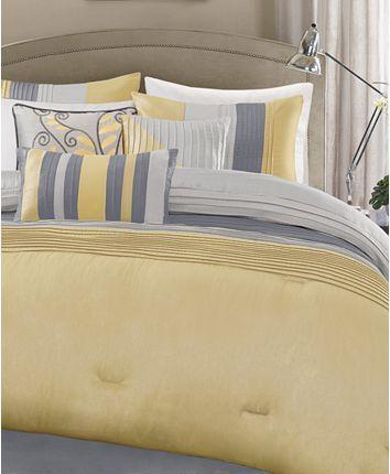 Madison Park Amherst 6 Pc Full Queen Duvet Cover Set Reviews Duvet Covers Sets Bed Bath Macy S Comforter Sets Bedding Sets King Comforter Sets
