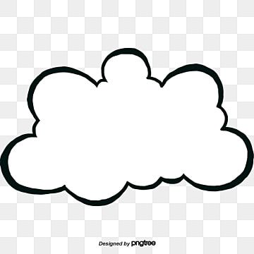 White Dialogue Box In Cloud Shape Cloud Clipart Black And White Cloud Element Png Transparent Clipart Image And Psd File For Free Download Cloud Shapes Clipart Black And White Black And