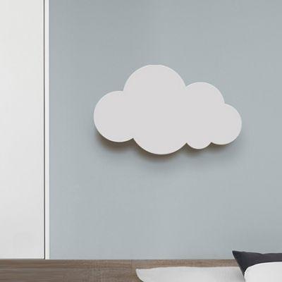Aplique De Pared Led De Plastico Con Iluminacion De Pared Blanca De Estilo Nordico En La Nube Para Sala De Enfermeria Be