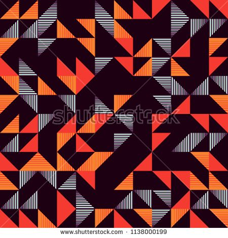 Seamless Trendy Triangle Colorful Abstract Pattern Background With