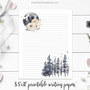 Stationery Printable Moon Phases