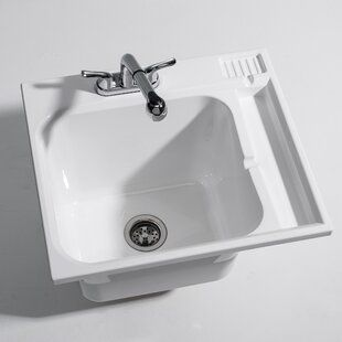 Cashel Fitz Workstation 20 5 X 25 75 Freestanding Laundry Sink With Faucet Wayfair In 2020 Laundry Sink Sink Laundry Tubs