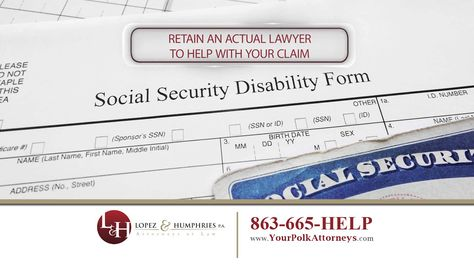 Social Security SSI Disability Claims Attorneys in Polk County - disability form