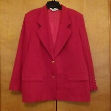 Austin Reed Petite 100 Worsted Wool Red Blazer Womens Size 16w Lined Womens Red Blazer Blazers For Women Red Blazer