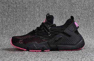 New Designer Nike Air Huarache Drift Prm Flyknit Black Pink ...