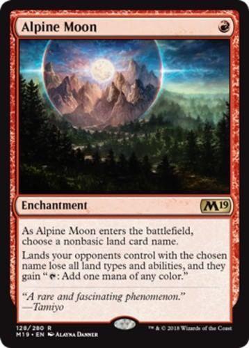 4x Alpine Moon x4 Lot Magic the Gathering MTG Artifact M19