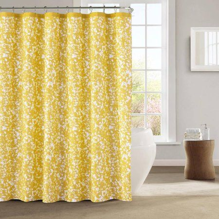 Home Yellow Shower Curtains Floral Shower Curtains Fabric Shower Curtains