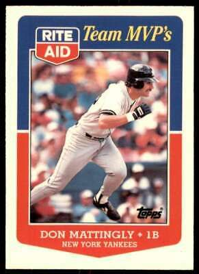 1988 Topps Rite Aid Team Mvp S Don Mattingly New York Yankees 22 Ebay In 2020 New York Yankees Don Mattingly Yankees