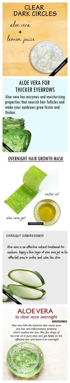 Aloe Vera And Lemon Juice Overnight