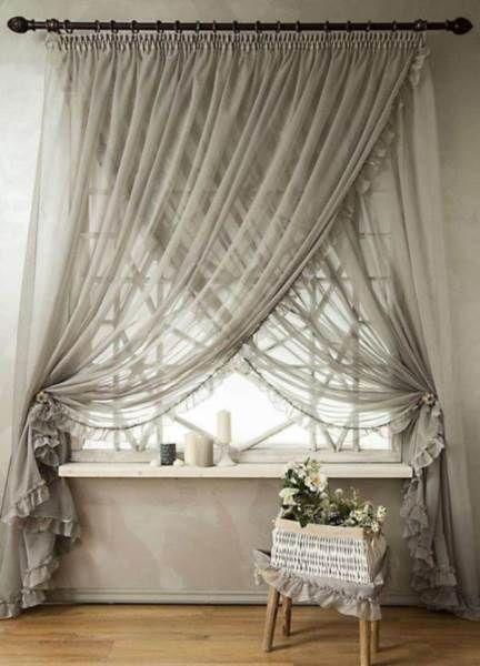 50 Modelos De Cortinas Para Sala Com Elegancia E Modernidade Decoracao De Casa Curtains Living Room Farmhouse Window Treatments Curtain Decor