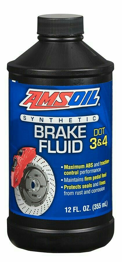 Amsoil Dot 3 4 Synthetic Brake Fluid Maintains Maximum Abs And
