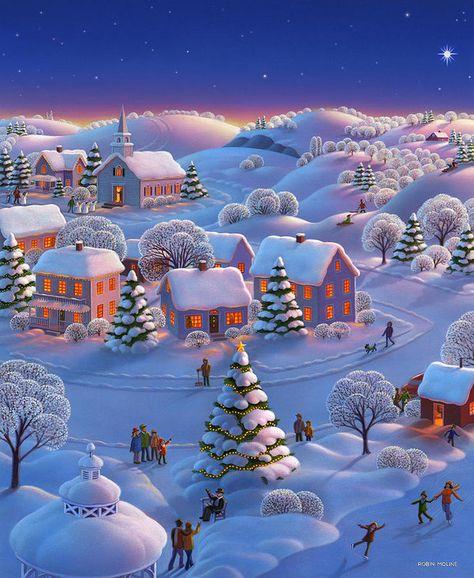 Winter Wonderland Print featuring the painting Winter Wonderland by Robin Moline