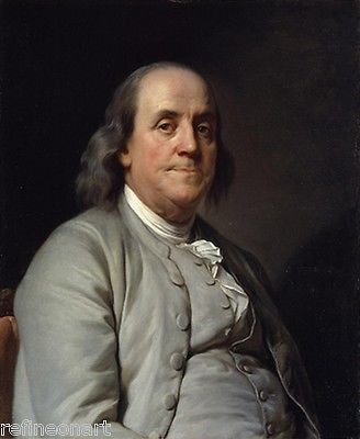Joseph Siffrein Duplessis - Benjamin Franklin Giclee Canvas Print