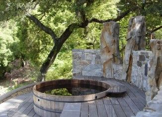 The 25+ Best Ideas About Badetonne On Pinterest | Badefass, Selbst ... Whirlpool Im Garten Charme Badetonne