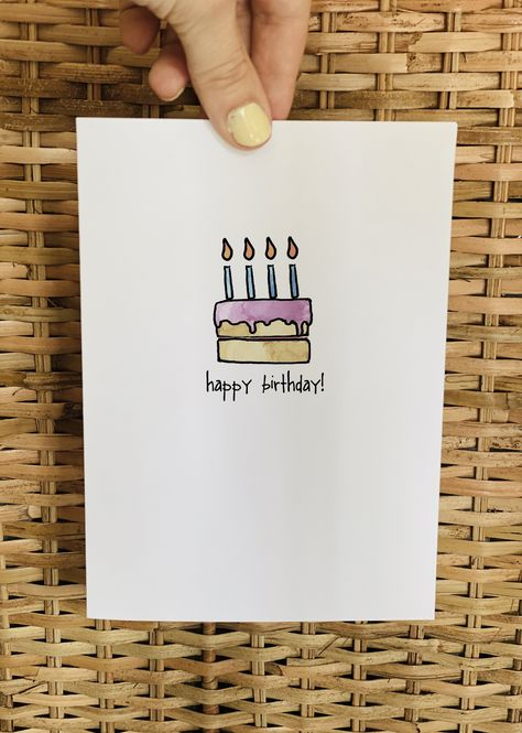 Simple yet chic birthday cards perfect for everyone! Effortlessly beautiful cards to give to that special someone. Love this card? You can also purchase it as part of Simple Birthday Cards Collection in sets of 6, 12 or 24 ideal to stock your cupboard ready for when you need a last minute card. About This Card The artwork for each card has been drawn digitally, then edited further to achieve a bespoke and professional finish. Inside of card reads 'Happy Birthday!' Cards All cards are printed on