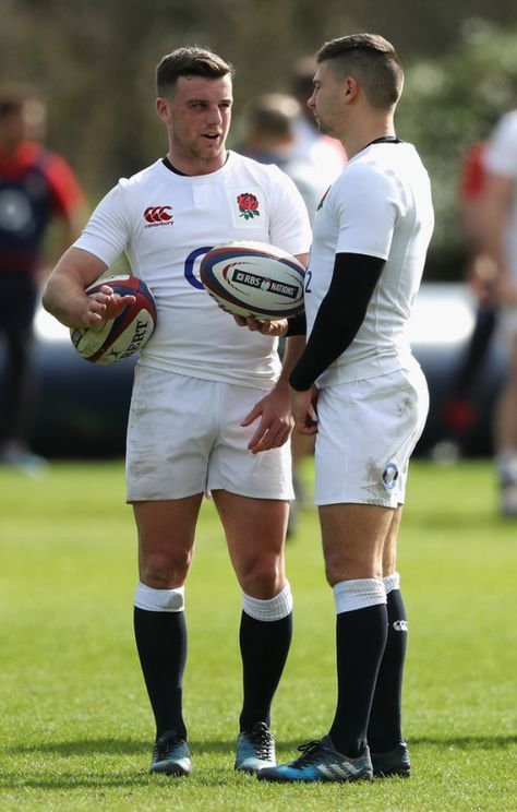 England Rugby - with Royal Bank of Scotland elliptical balls