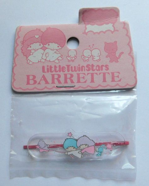 VTG 1976 Sanrio Little Twin Stars Barrette Japan