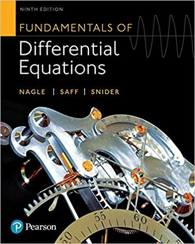 Fundamentals Of Differential Equations 9th Edition By R Kent Nagle Isbn 13 978 0321977069 Ebookschoice Com Differential Equations Equations Math Notes