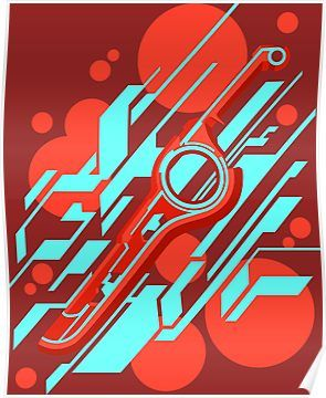 Monado Abstract Poster By Ninjendo In 2020 Abstract Poster Abstract Xenoblade Chronicles