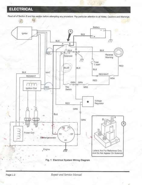 16 ez go golf cart wiring diagram gas engine  engine