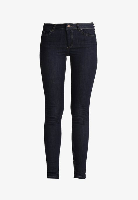 Pieces PCFIVE DELLY - Jeans Skinny Fit - dark blue denim - Zalando.de f5d6fa80c7
