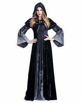 Women/'s Witch Party Dress with Cape Sleeves Fancy Dress Costume Halloween