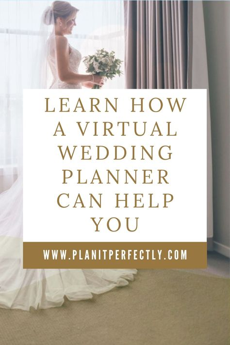 If you are like most brides, you're dealing with a lot more than just the wedding planning. Learn how a Virtual Wedding Planner can help you sort things out. #engaged #weddingplanner #weddingplanning #weddingtips