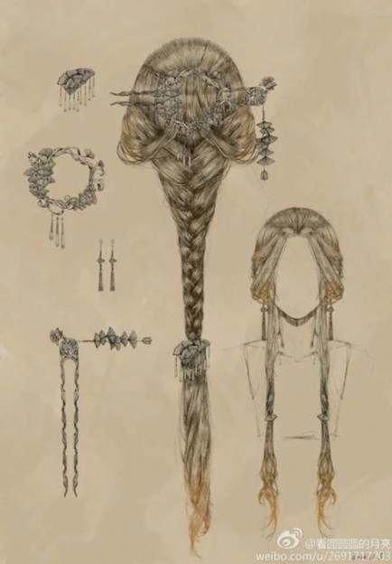 Nice for medieval drawing and fairies. Nice for medieval drawing and fairies. The post Romantic hair style. Nice for medieval drawing and fairies. Romantic Hairstyles, Braided Hairstyles, Fashion Hairstyles, Fantasy Hairstyles, Medieval Hairstyles, Fairy Hairstyles, Manga Hairstyles, Chinese Hairstyles, 1970s Hairstyles