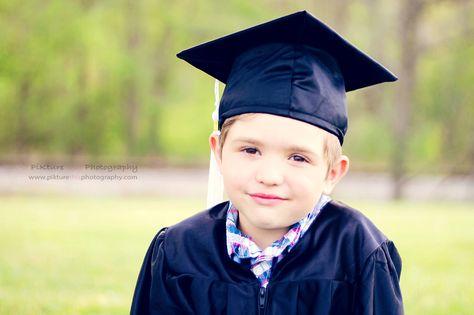 Kindergarten graduation Cap and Gown portrait session PiKture this ...