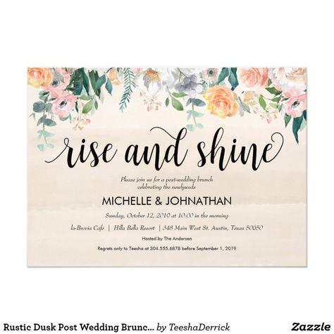 Shop Rustic Dusk Post Wedding Brunch Invitation card created by TeeshaDerrick.