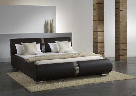 Lederbett LYNES in braun Schlafzimmer Pinterest - schlafzimmer set mit boxspringbett
