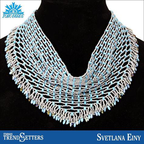 TOHO and SuperDuo necklace by Starman TrendSetter Svetlana Einy